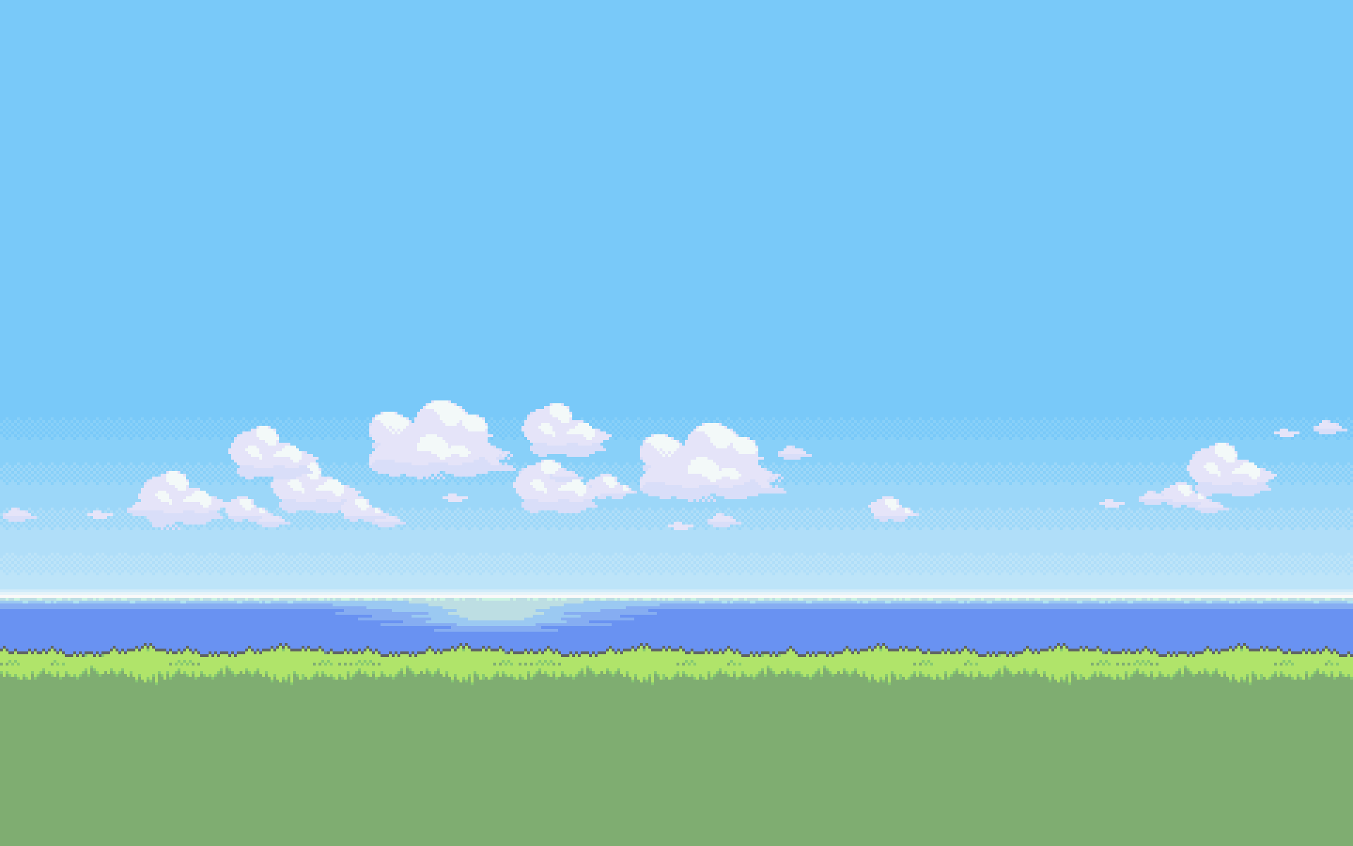 16 bit green beach wallpaper