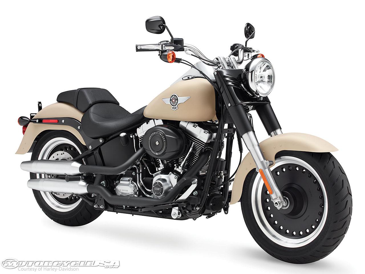 Harley-Davidson introduced a new braking package for its Softail models, with bikes like the 2015 Fat Boy Lo receiving a rigid four-piston fixed front brake ...