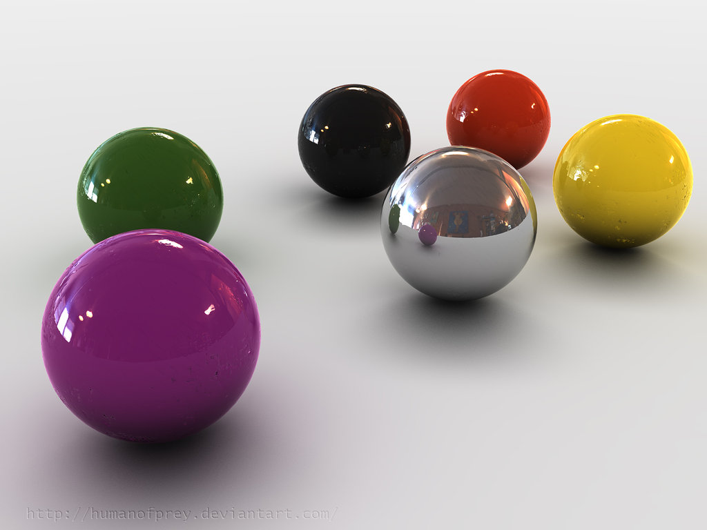 3D colored Balls by humanofprey ...