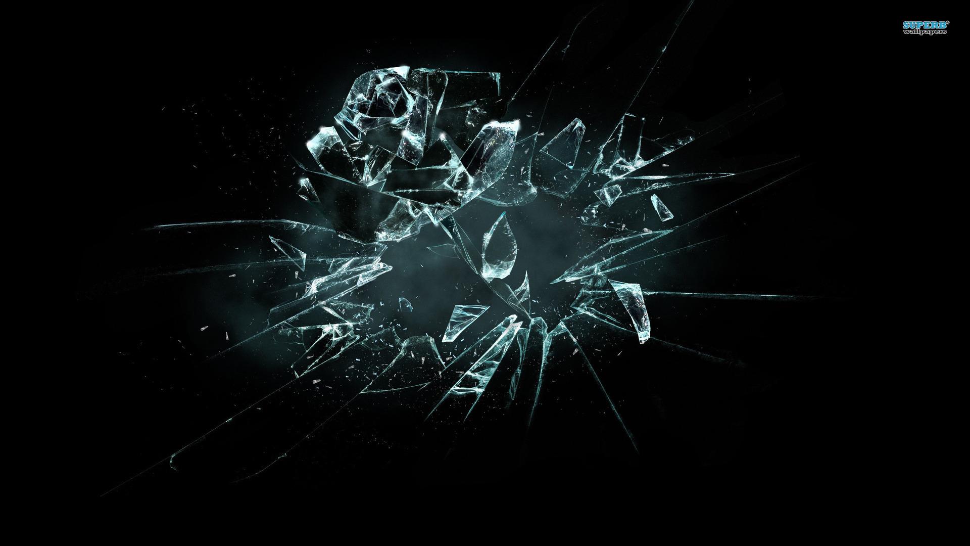 Broken glass wallpaper 1920x1080