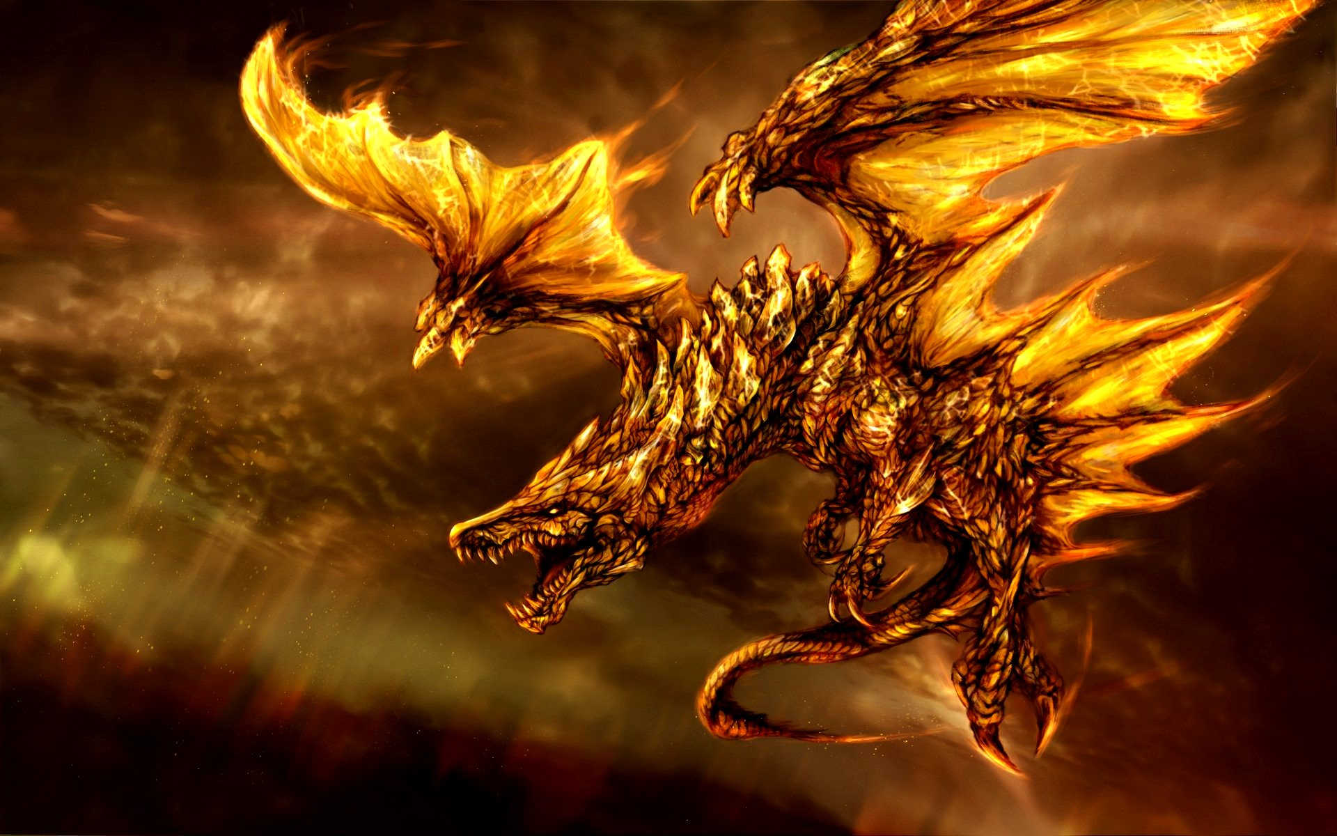 3D Fantasy Dragon Cool HD
