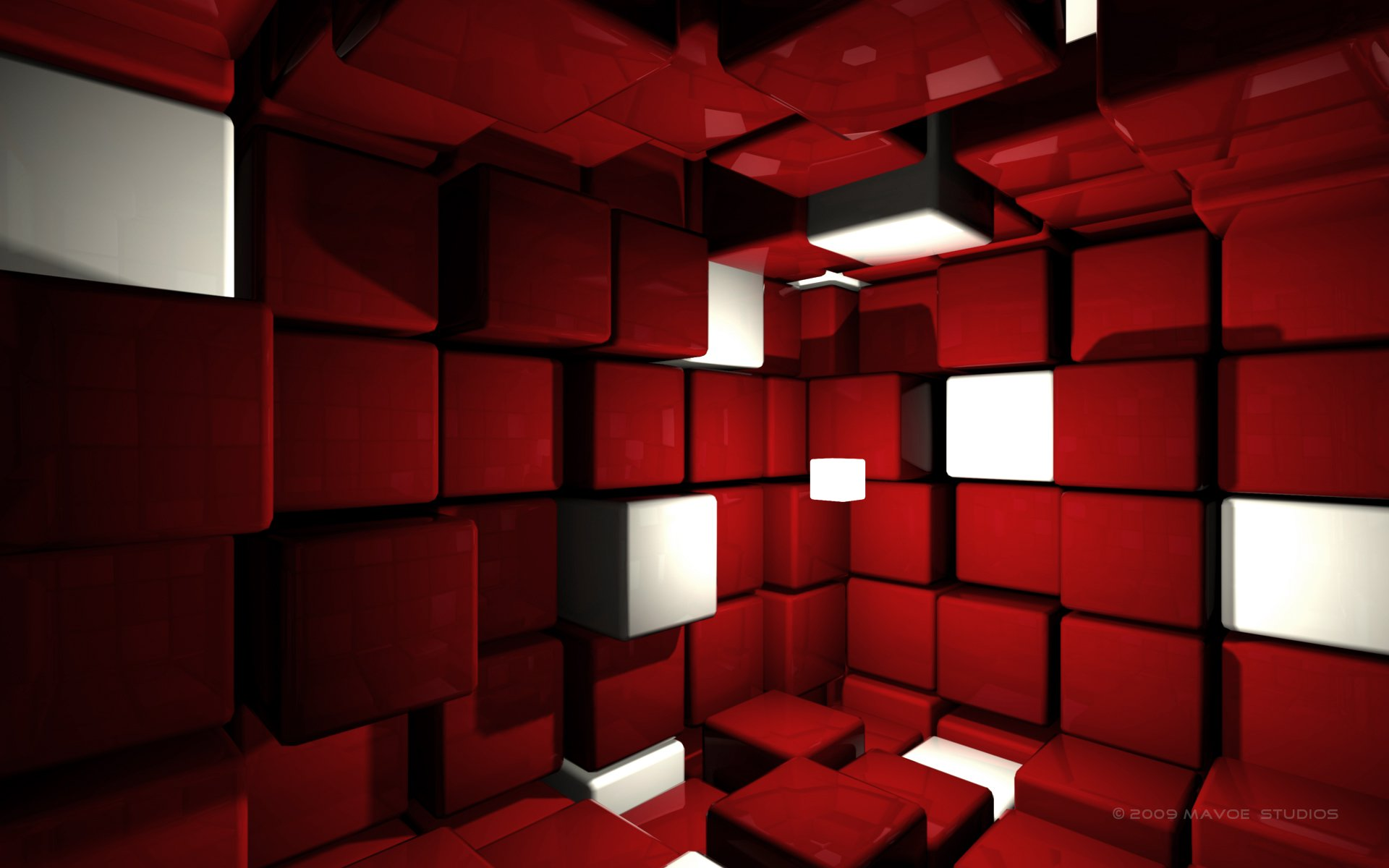 3d Red Backgrounds Wallpaper 1920x1200 8834