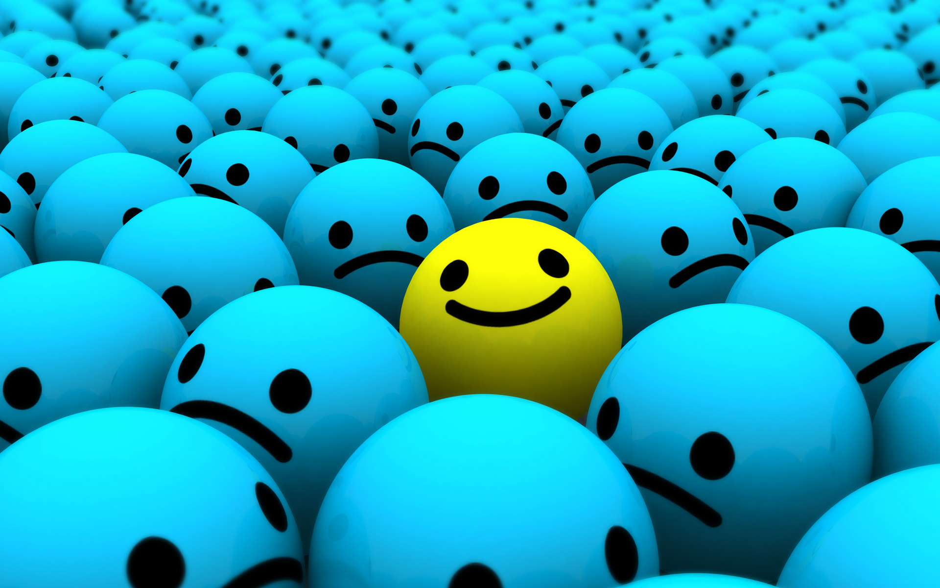 smiley 3d wallpaper Wallpaper