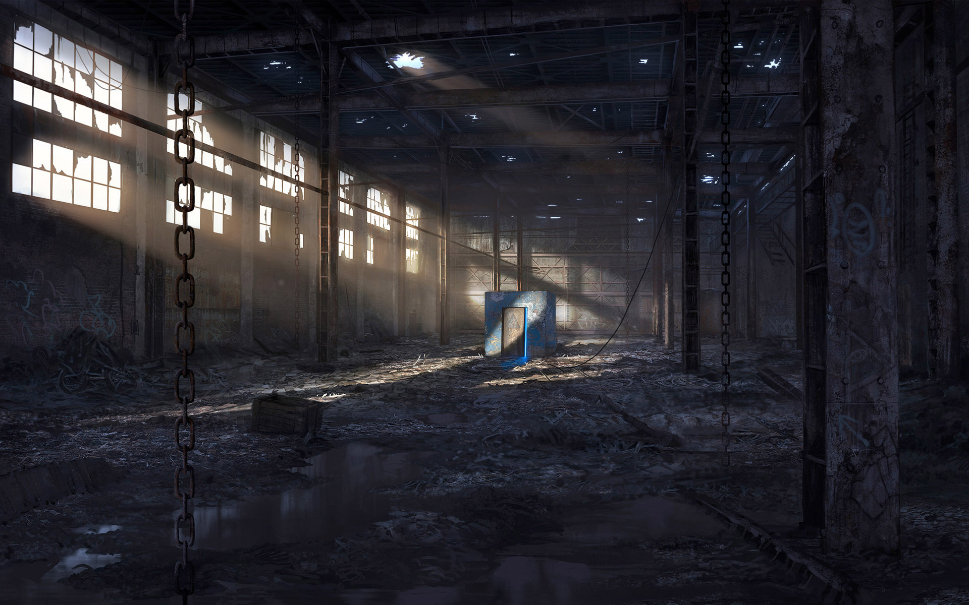 Abandoned Factory Wallpaper