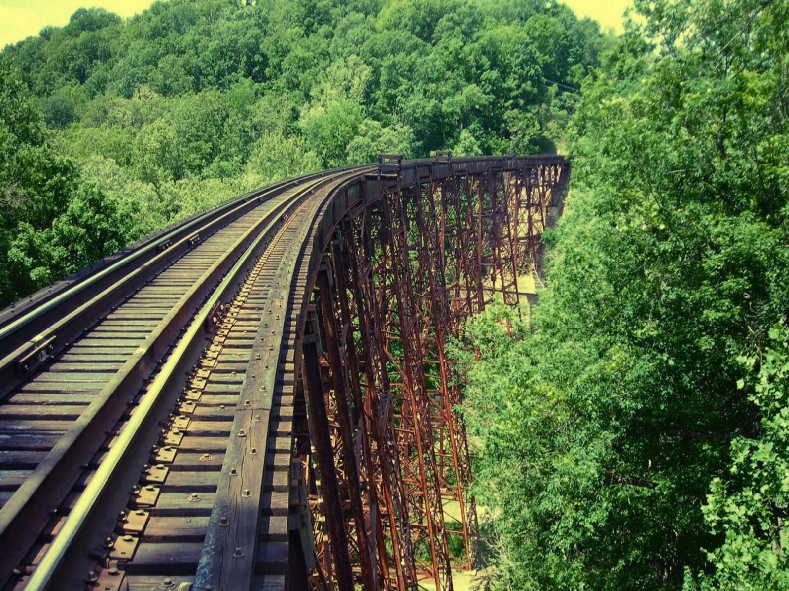 Abandoned Railroad Wallpaper