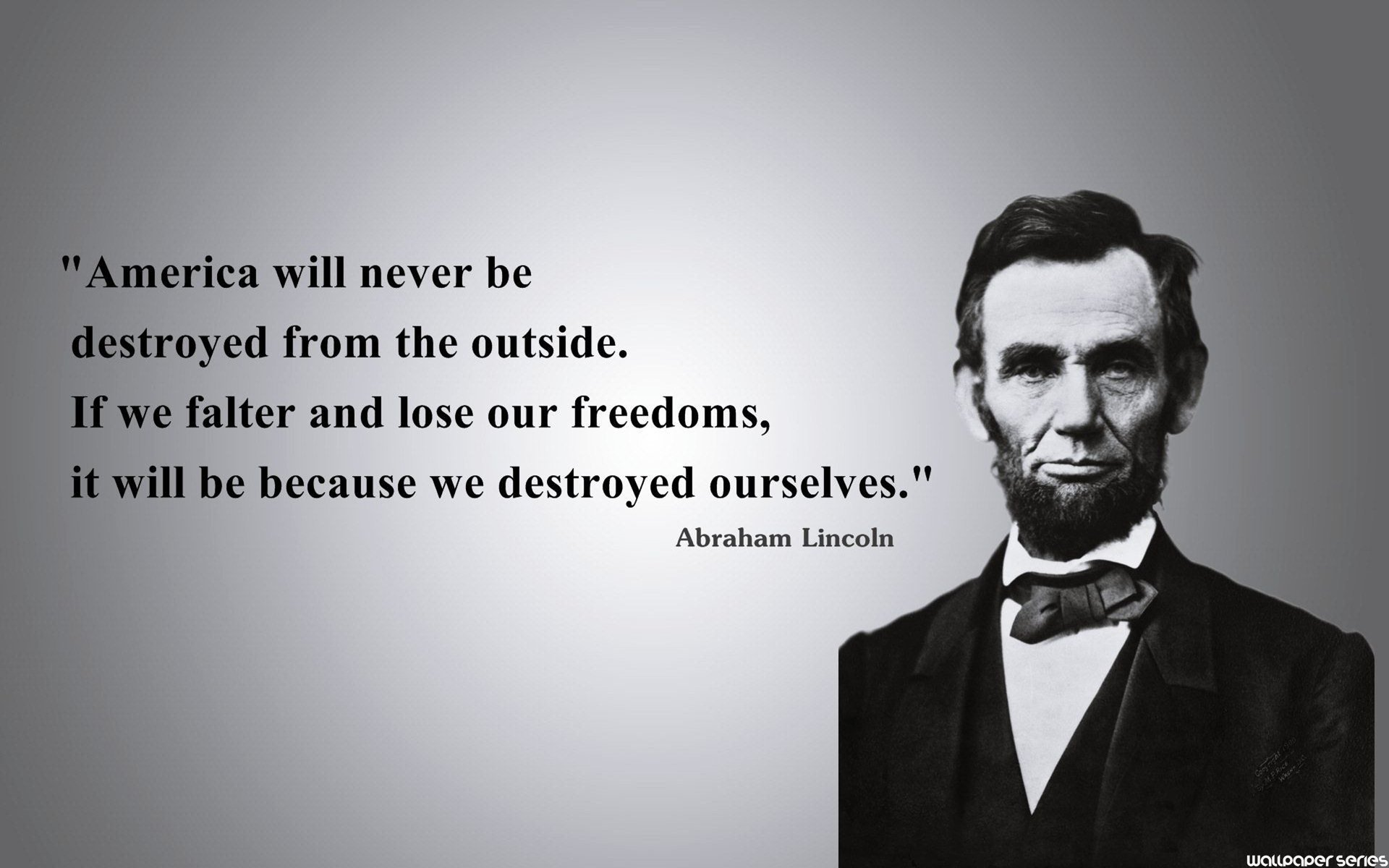 Abraham Lincoln Freedom Quotes Wallpaper Series 1920x1200px