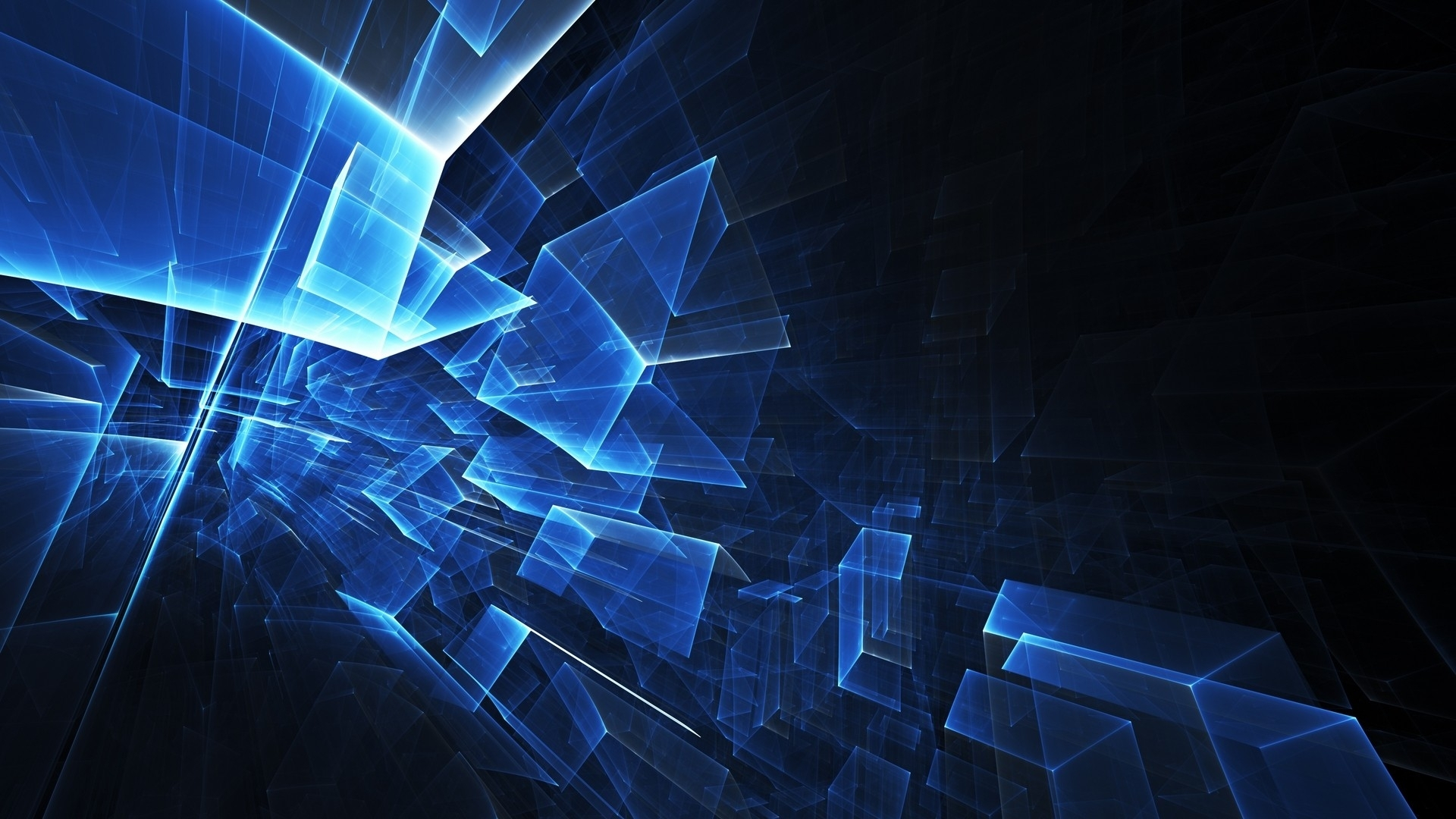 Blue Squares Abstract