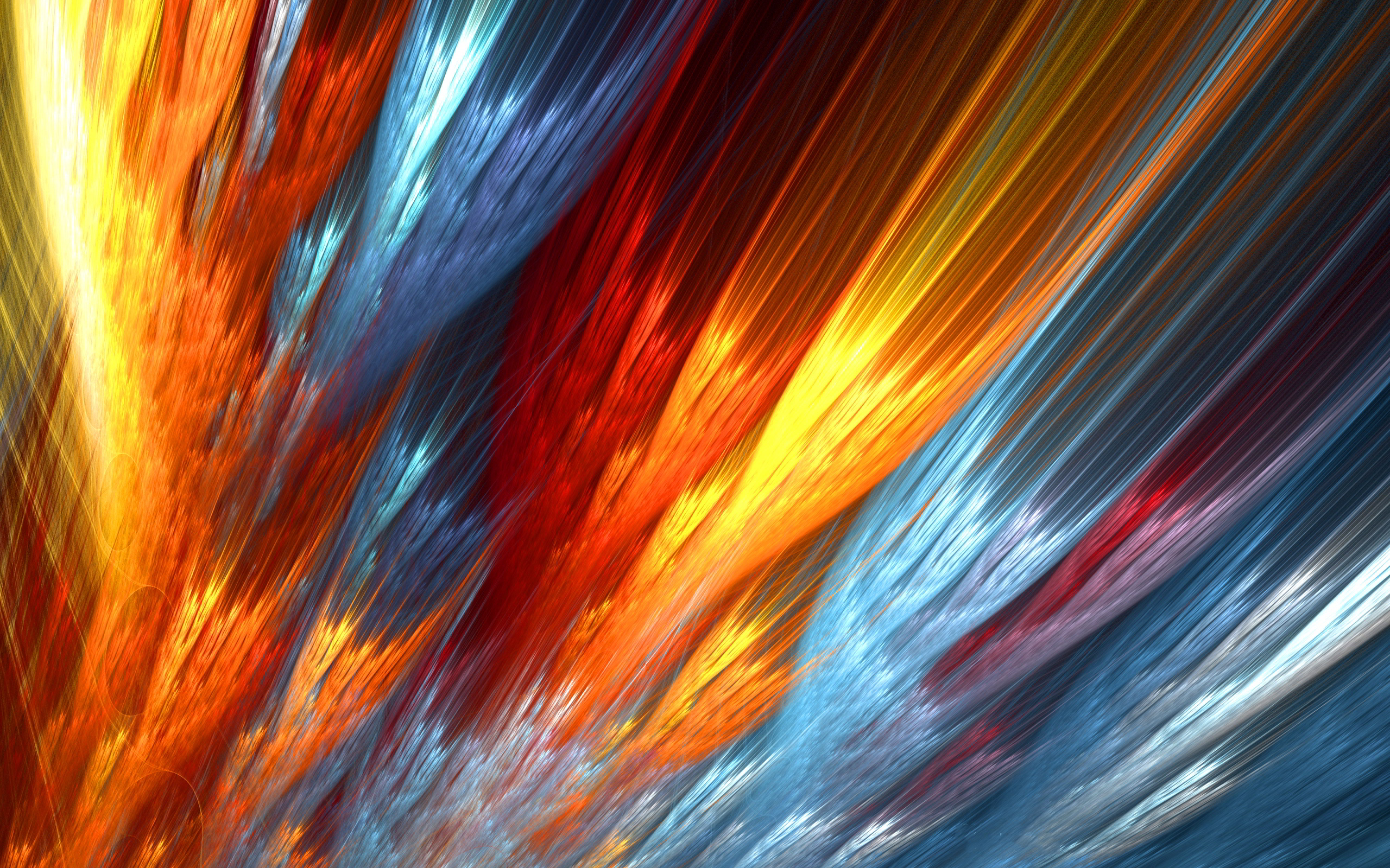 Abstract colorful fire