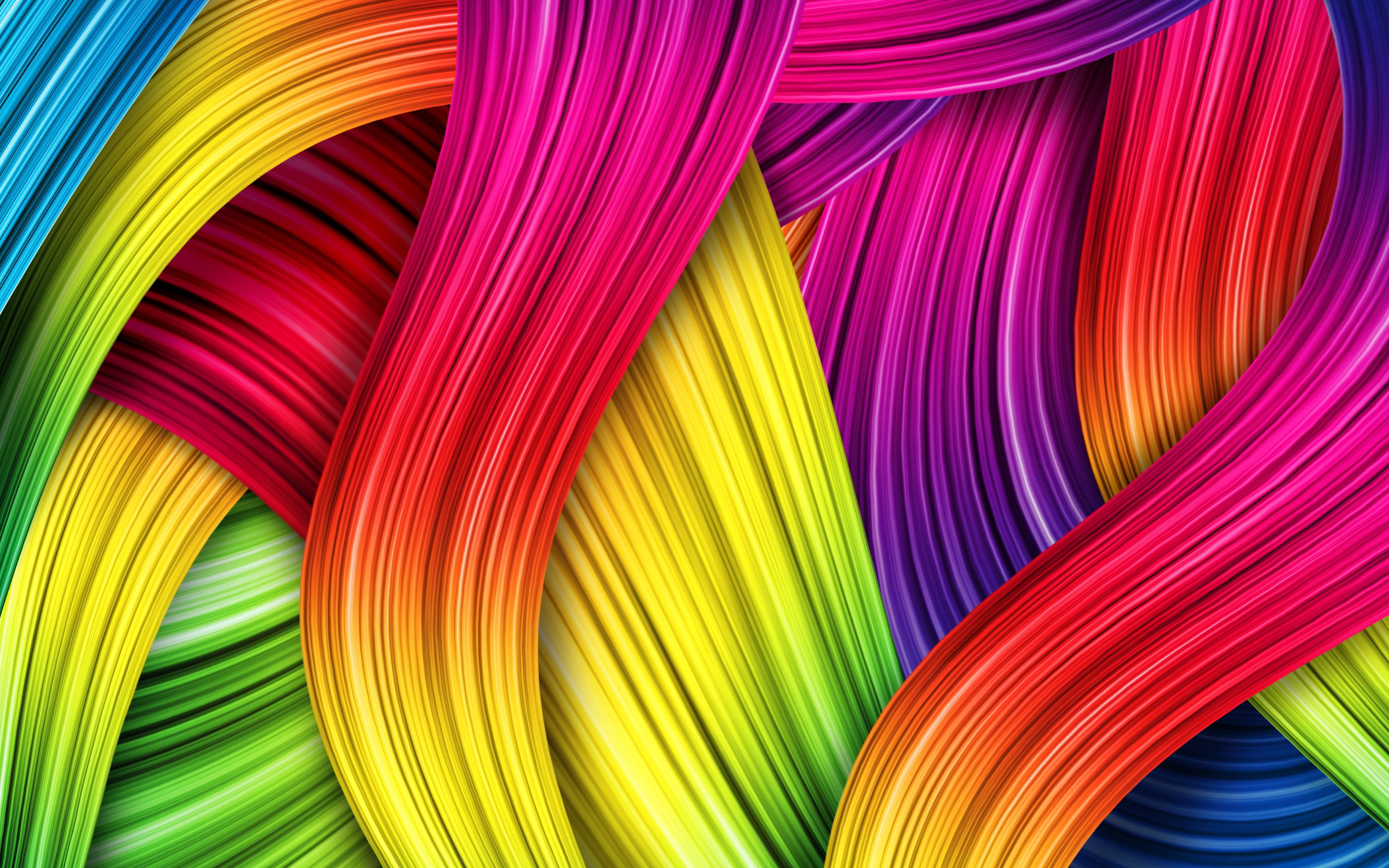 Abstract colorful lines art