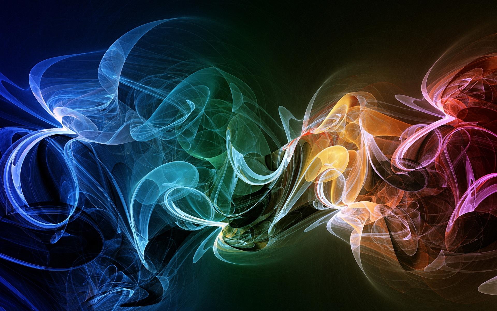 Abstract colorful smoke art