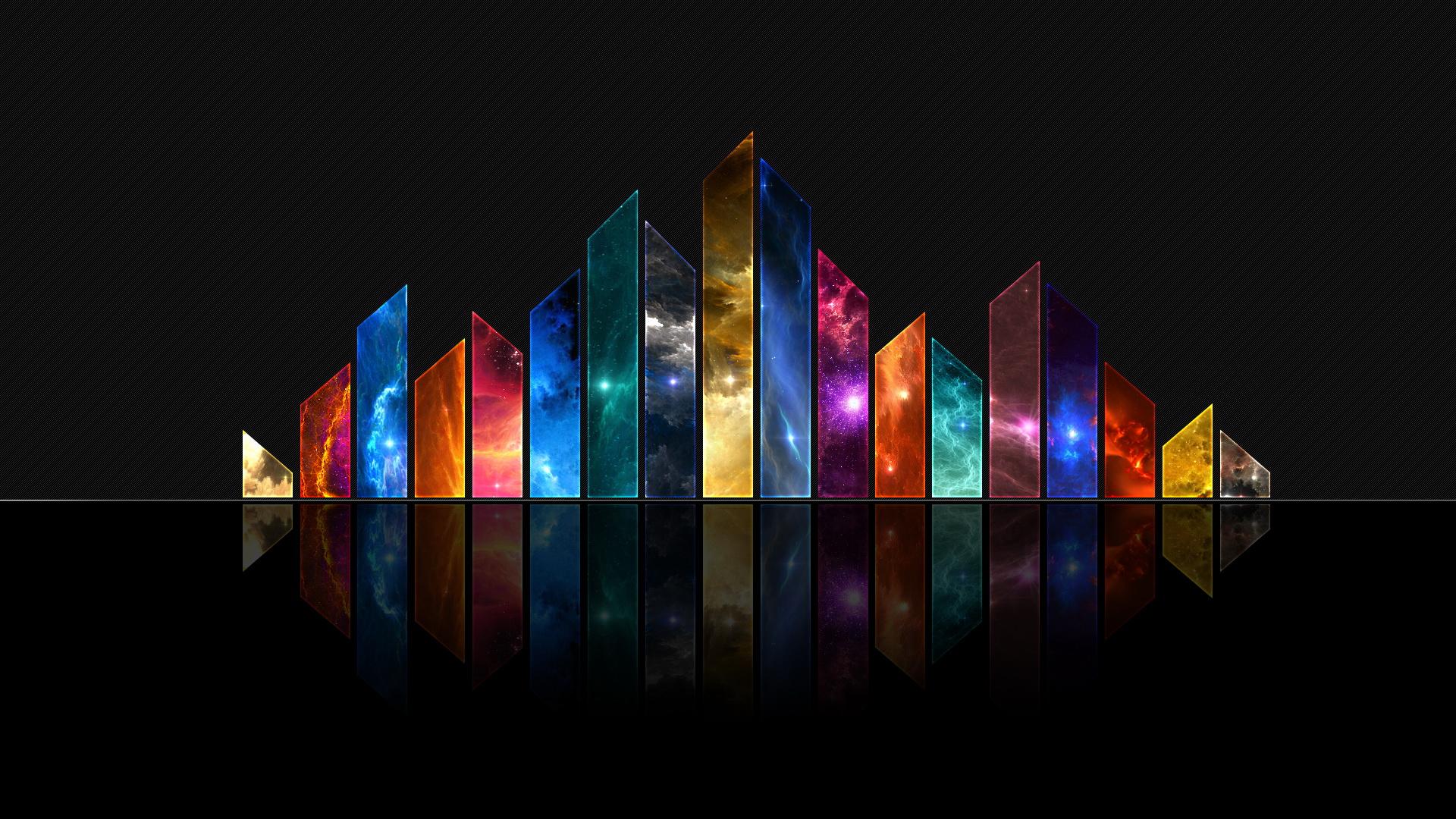Abstract Cool Colors Depth Desktop Wallpaper