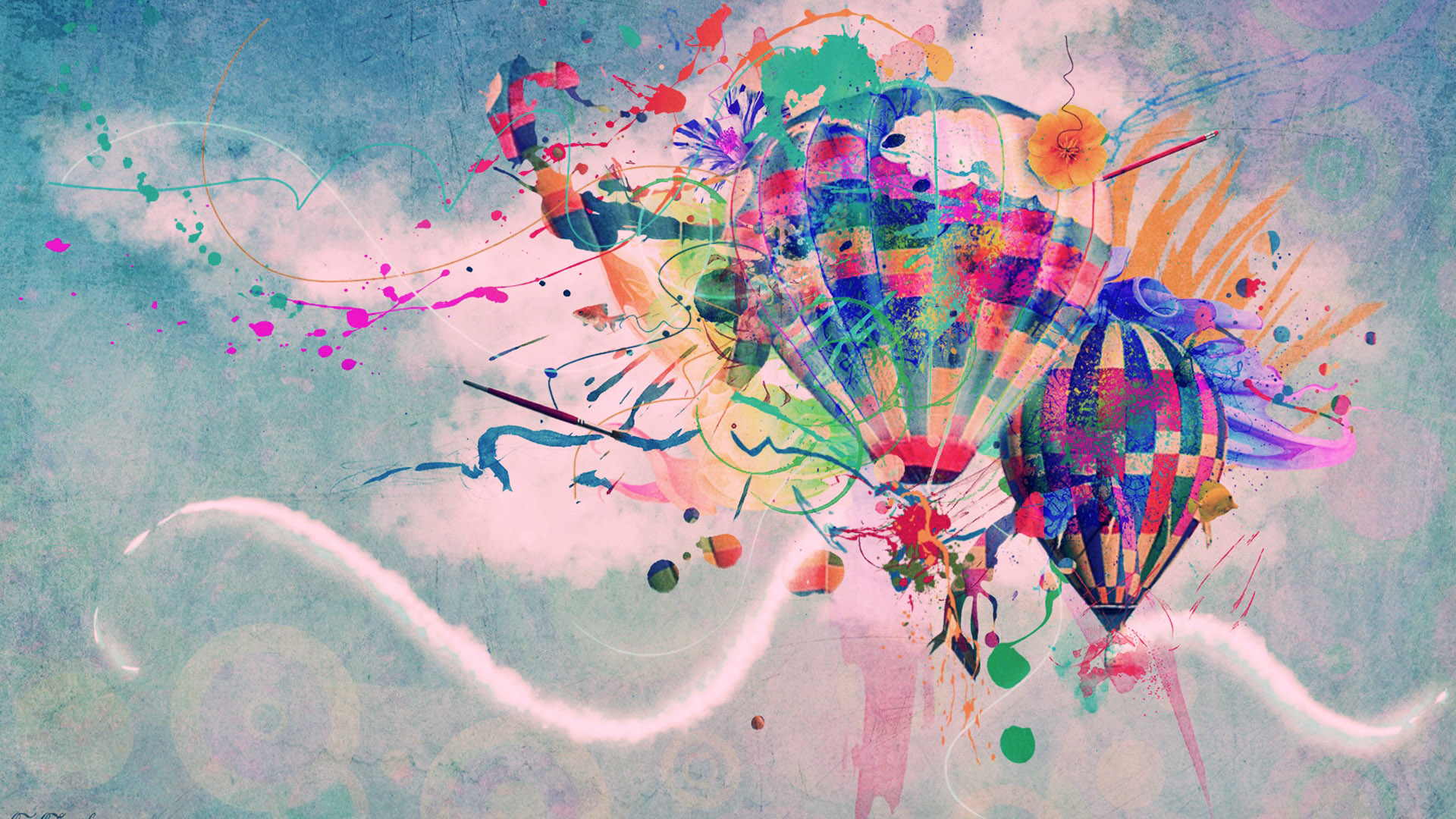 Abstract Hot Air Balloon Wallpaper