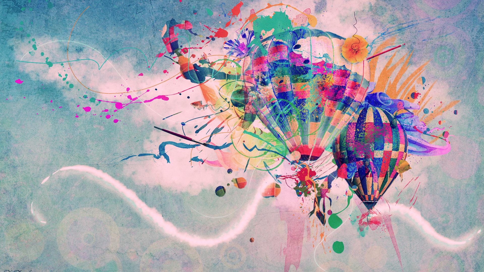 Abstract Hot Air Balloon Wallpaper