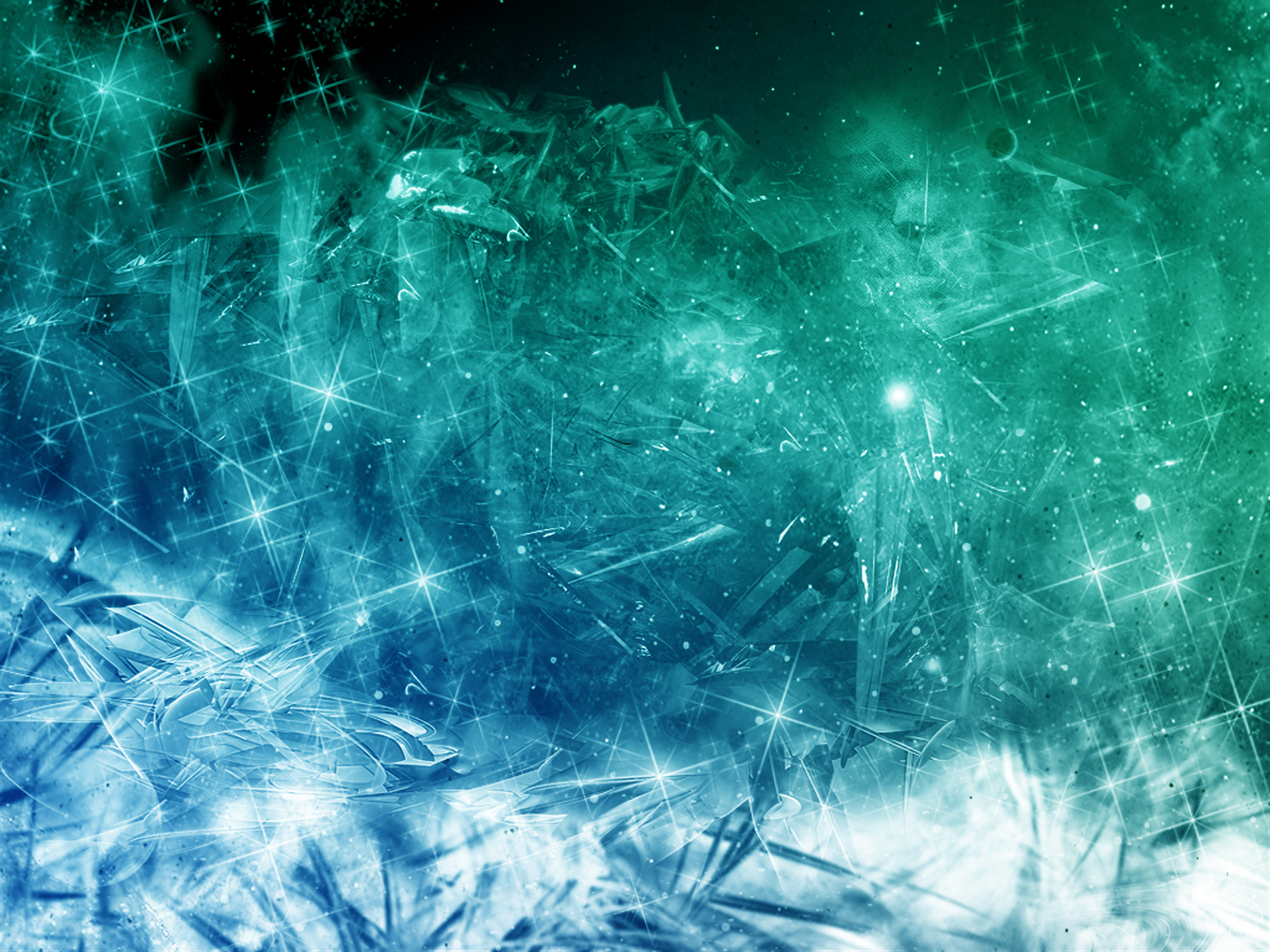 Green Blue Ice Wallpaper 1680x1260