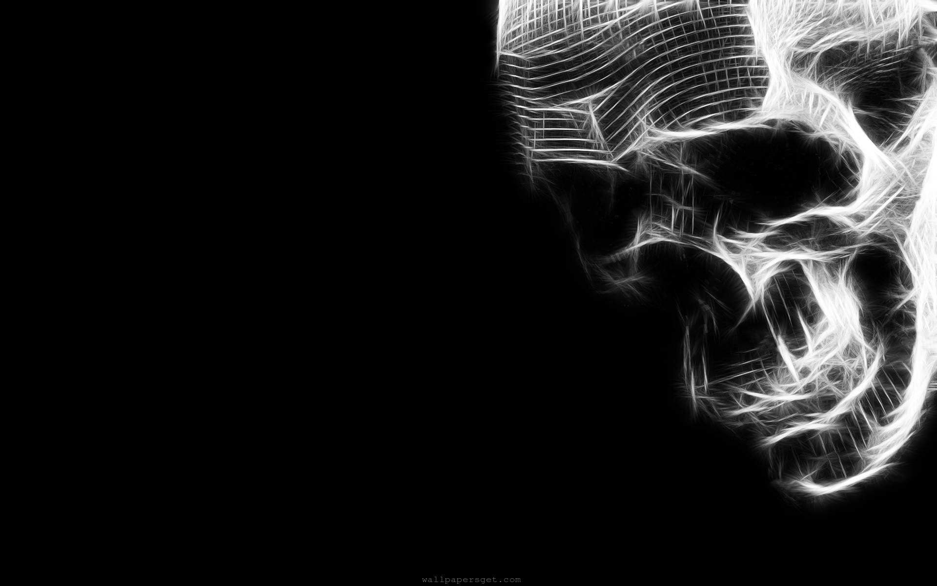 Abstract Cool Skull Desktop Wallpaper