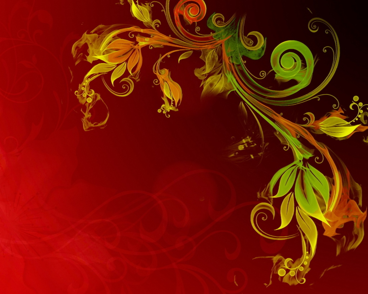 Abstract swirl flowers Wallpaper in 1280x1024 5:4