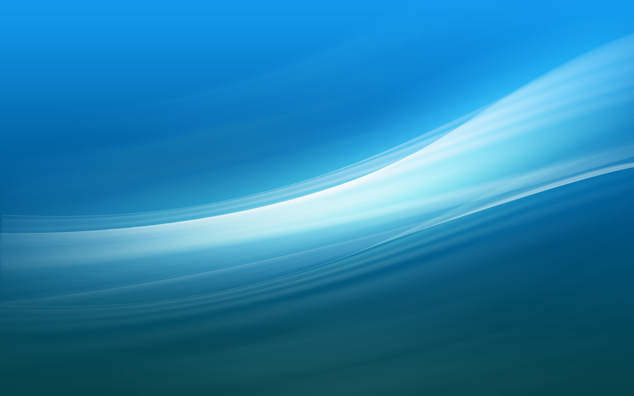 Unanticipated Blue Vector Waves Wallpaper 2560x1600px
