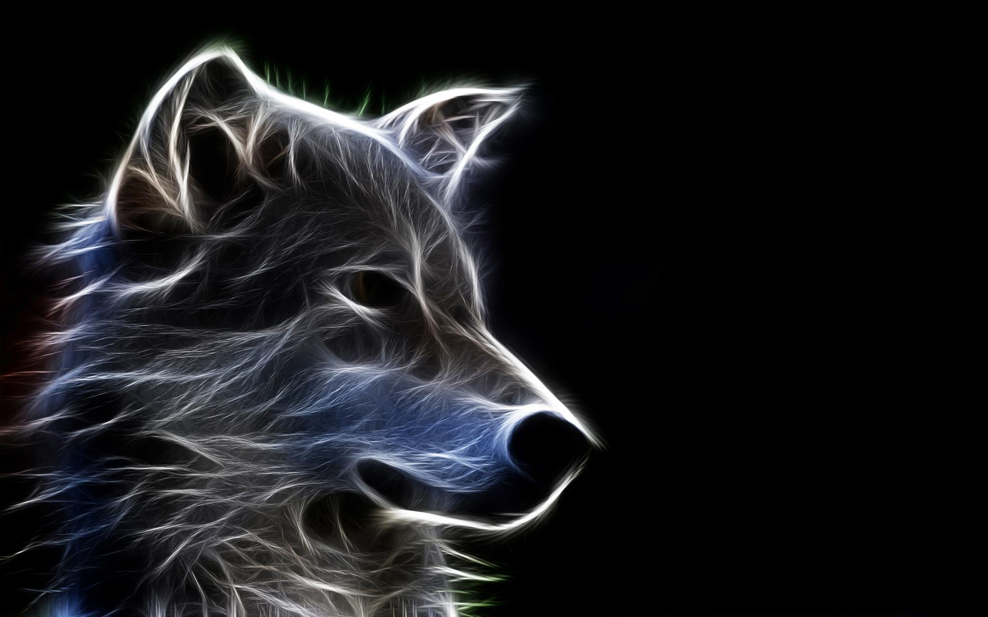 Abstract Wolf Art Wallpaper 1920x1200 9836