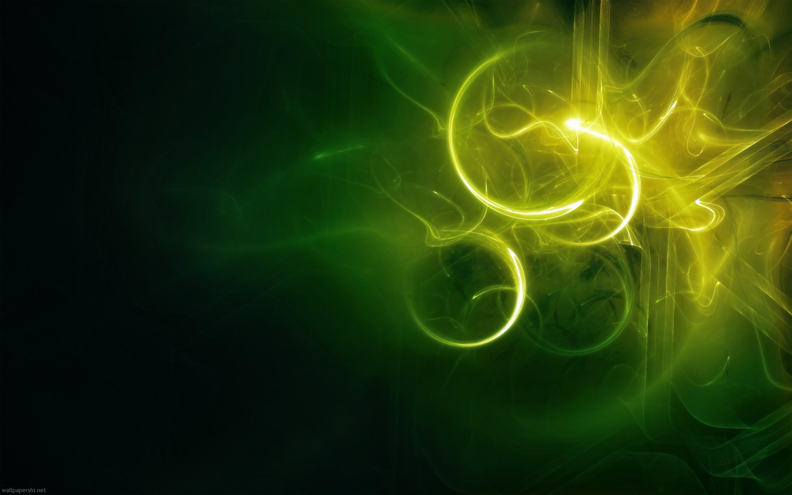Abstract yellow green drawing