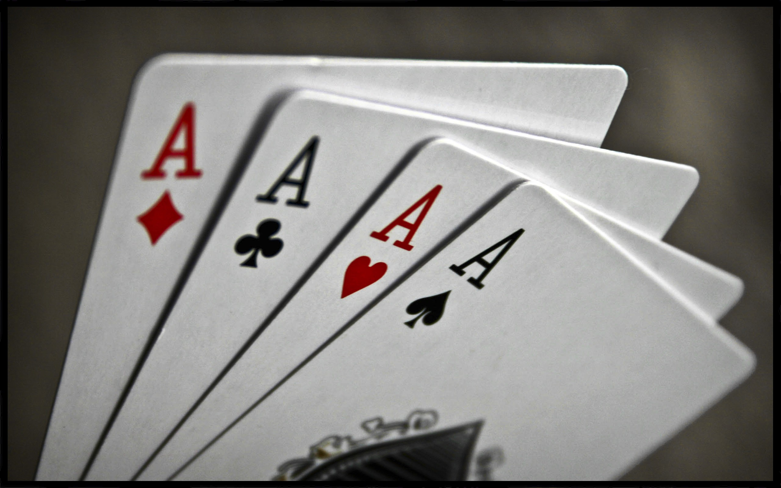 Aces poker cards