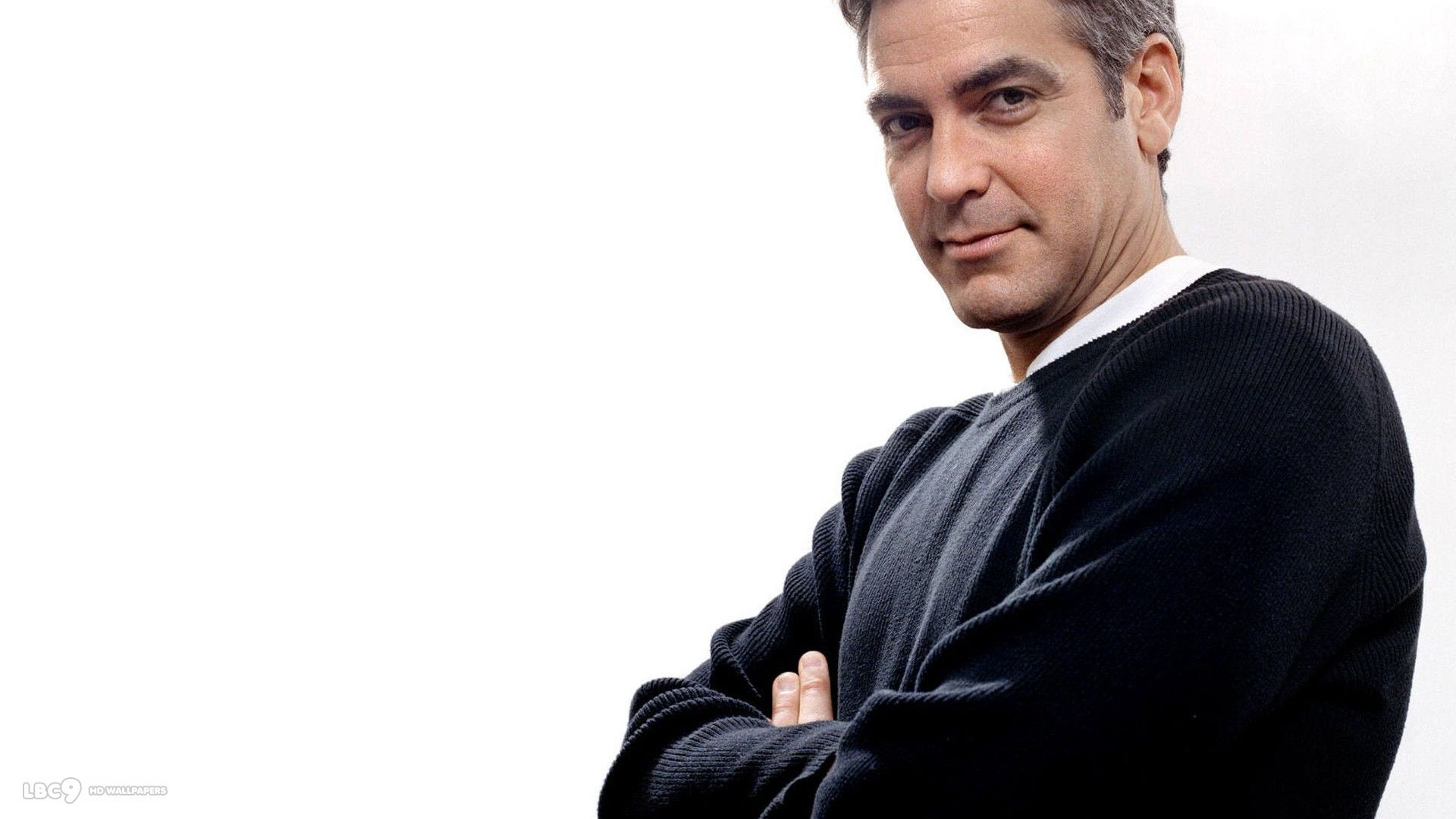 george clooney actor celeb white background