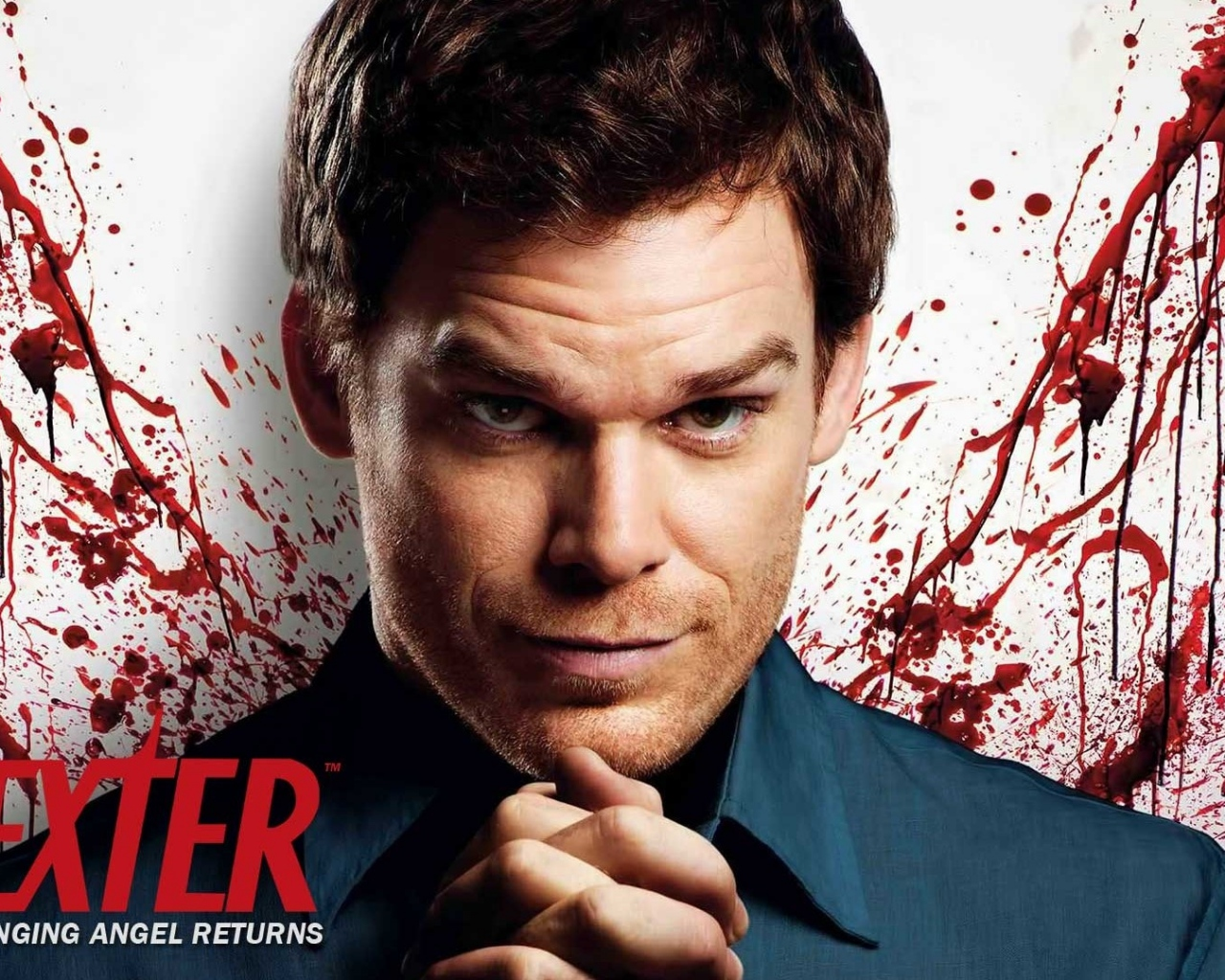 Preview wallpaper dexter, dexter morgan, angel, wings, blood, style, image