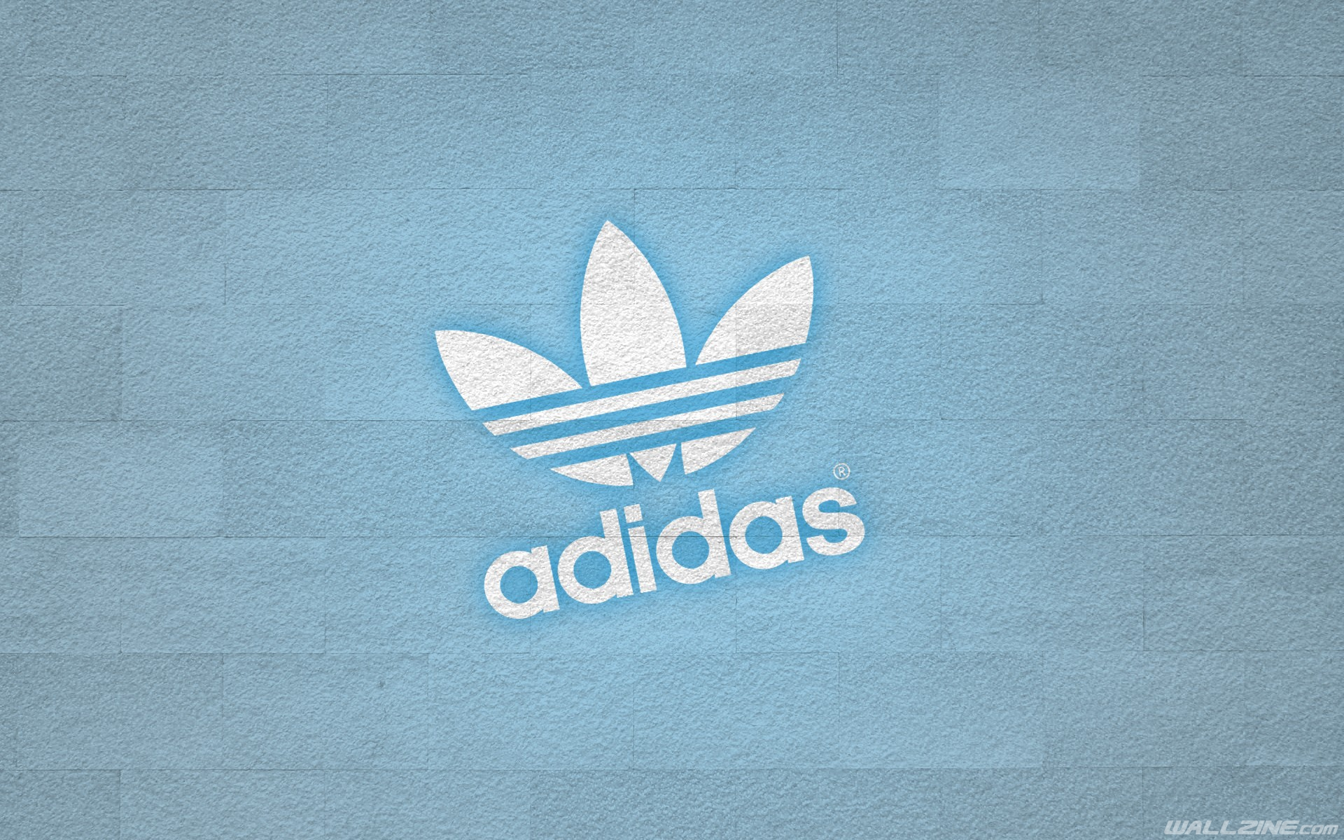 Adidas Logo Blue Wall