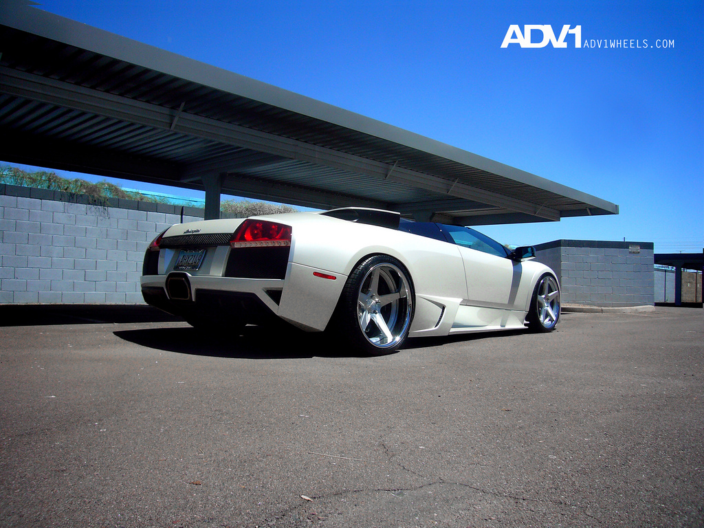 ... but this nicely fitted set of ADV1 wheels on the Murcielago Roadster is some of the best so far. So, what do you think of this sports car tuning?