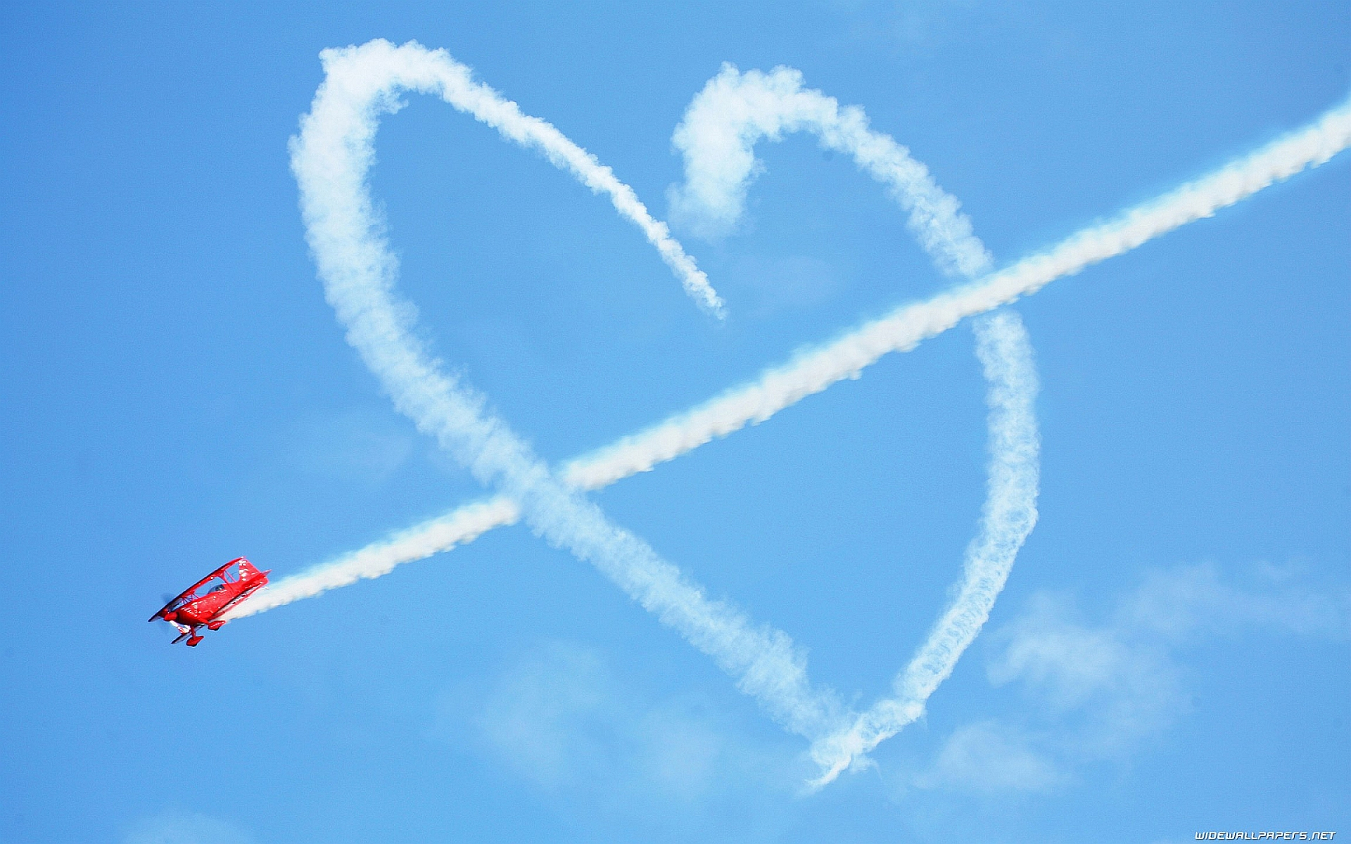 Airplane Fly Heart