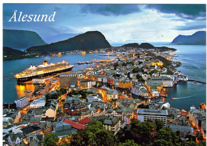 Alesund, Norway Images Alesund Norway this card was