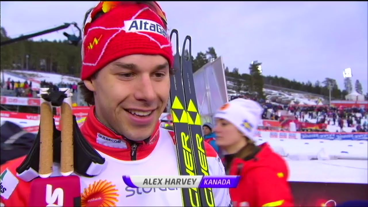 Alex Harvey interview after bronze in skiathlon - VM Falun 2015