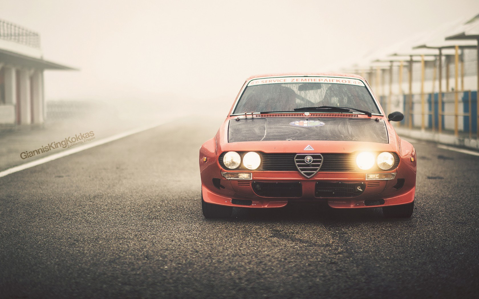 Alfa Romeo Alfetta 2000GT 1974 Oldschool Vintage Retro Italian Racecar