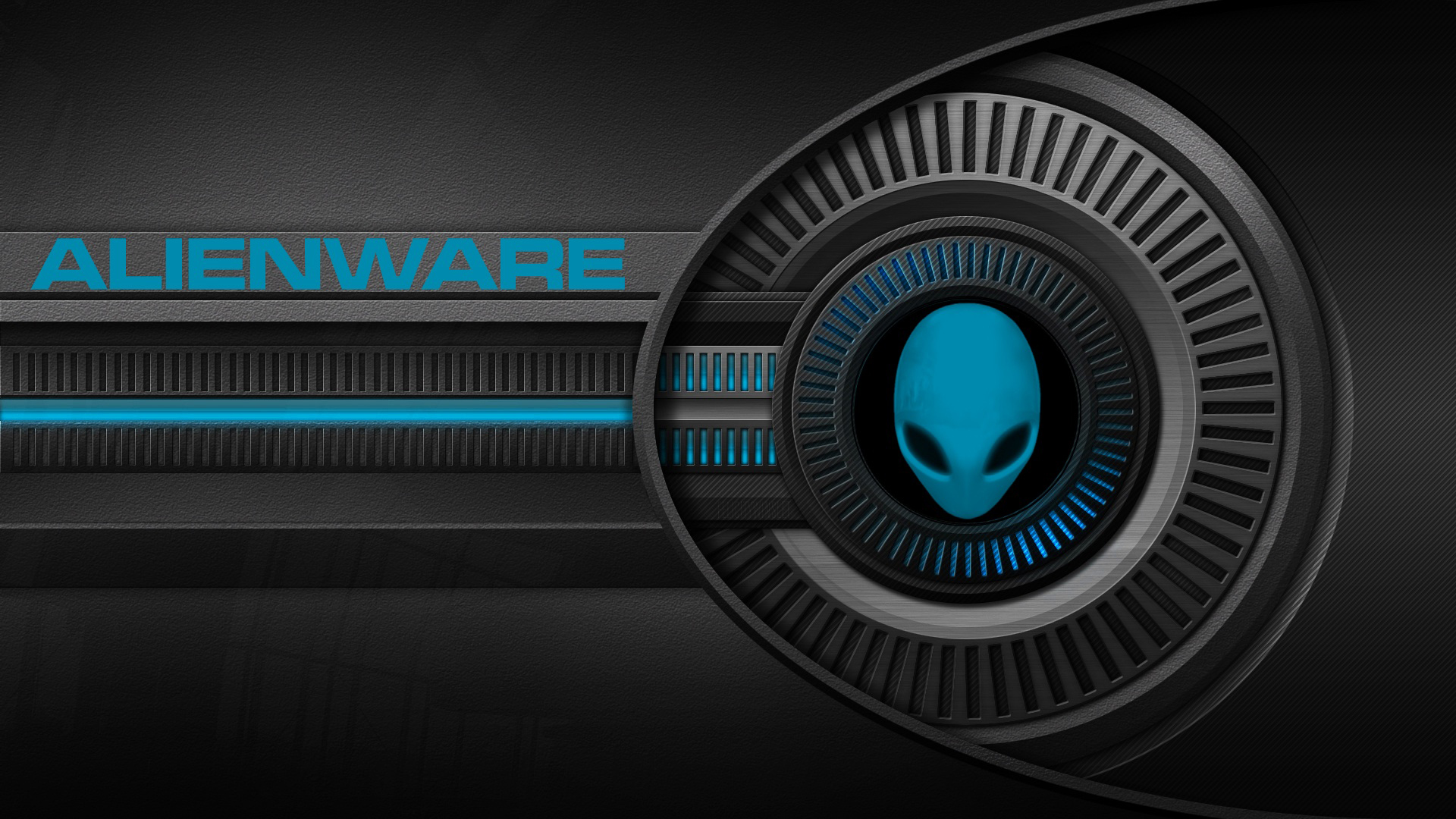 Alienware Wallpaper Blue 1920x1080