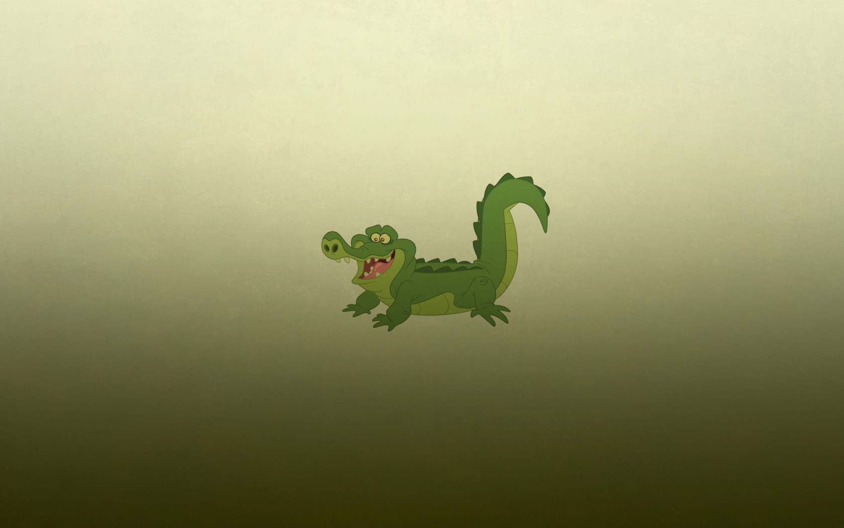 Alligator Crocodile Green Minimalism Cartoon