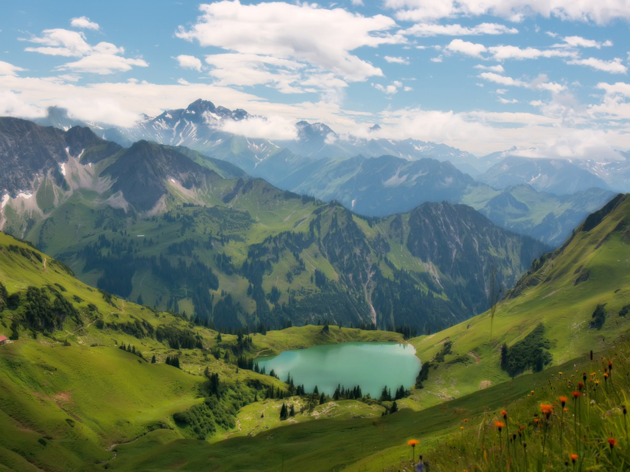 Lake In The Alps Wallpaper Landscape Nature Wallpaper (1280x960