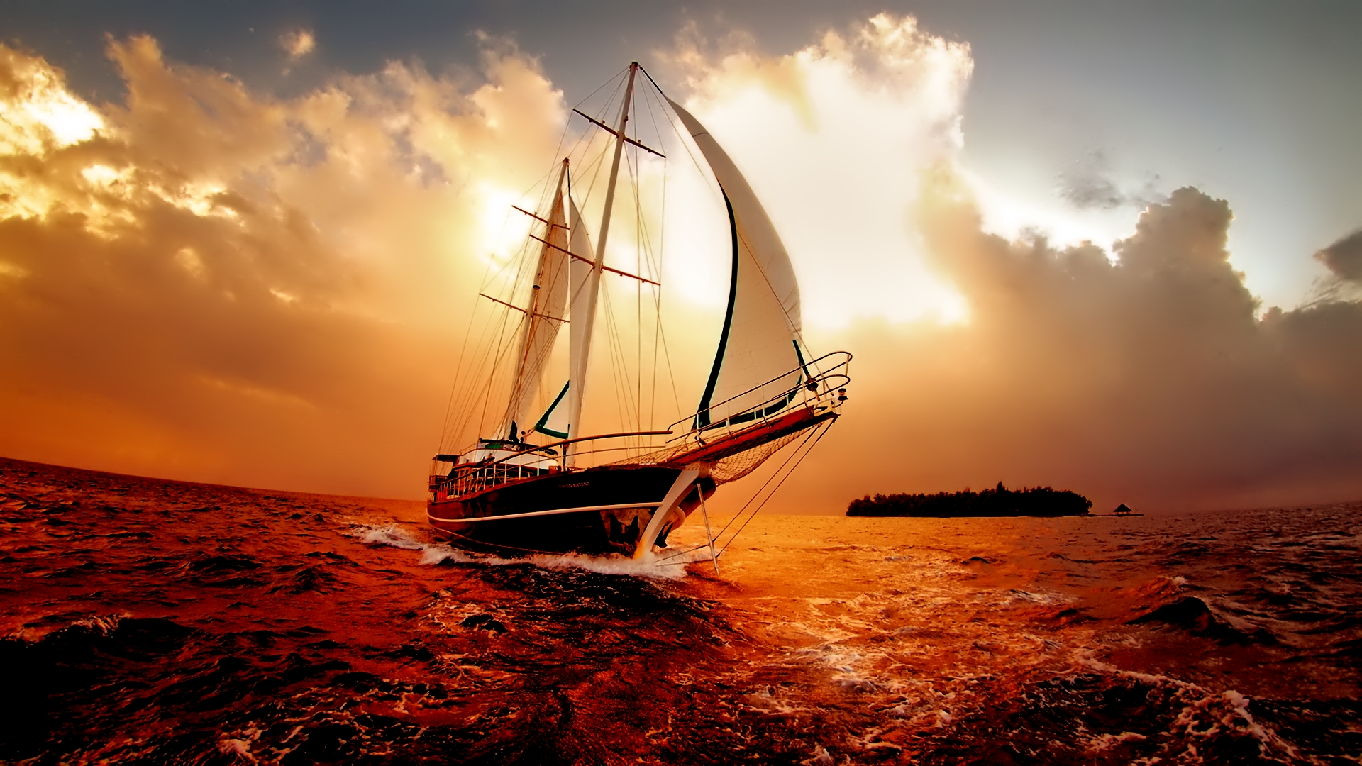 amazing boat wallpaper 1920x1080 28887