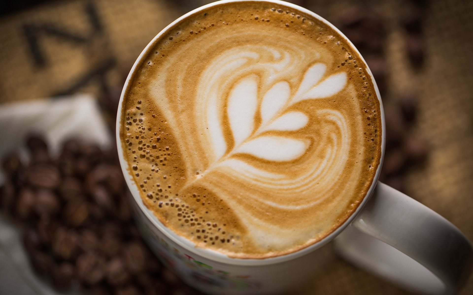 latte art desktop wallpaper