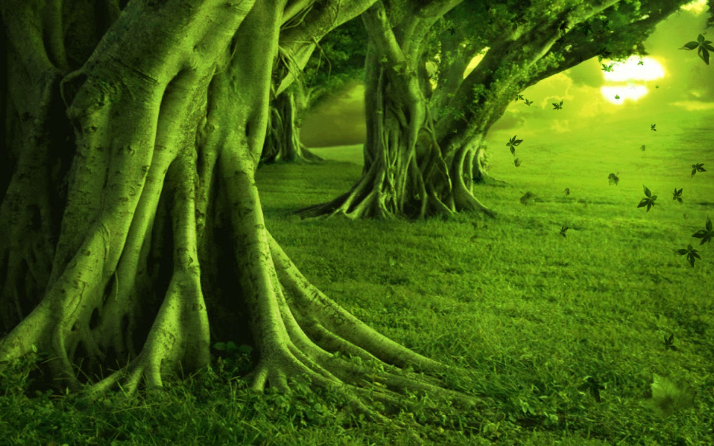 Amazing Green Land wallpaper