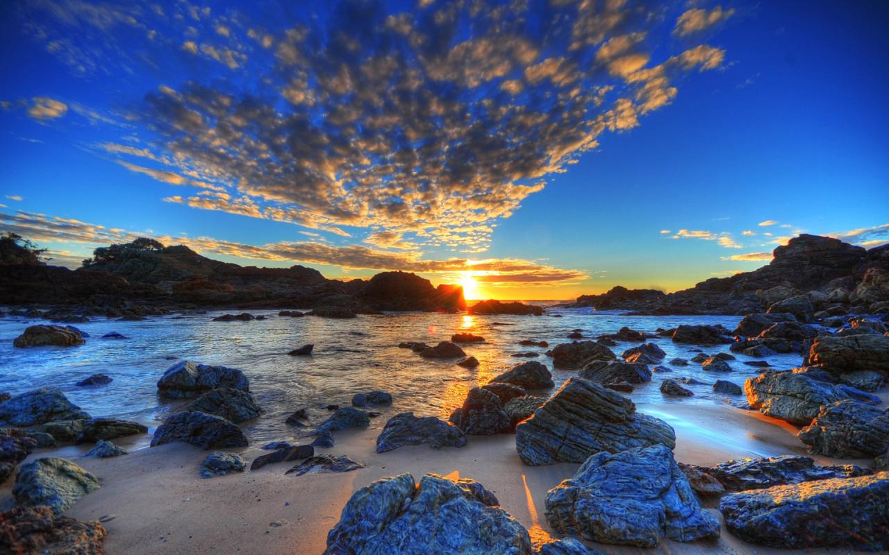 Beautiful HDR Beach Wallpaper 966