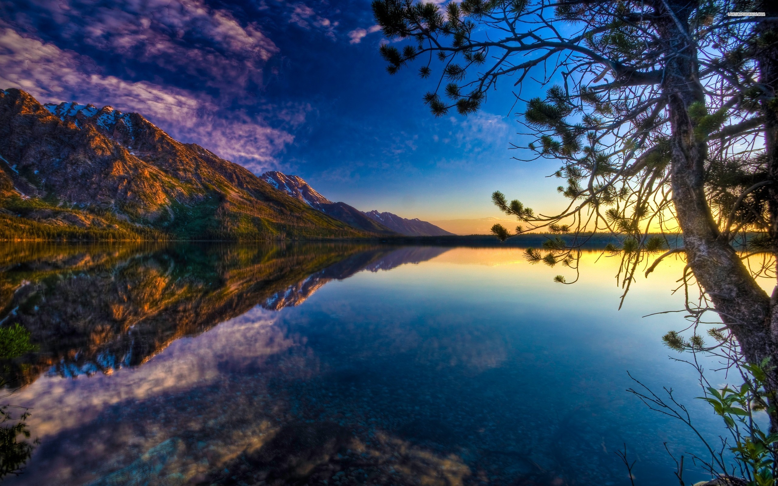 Mountainside Lake wallpaper 2560x1600 Original ...