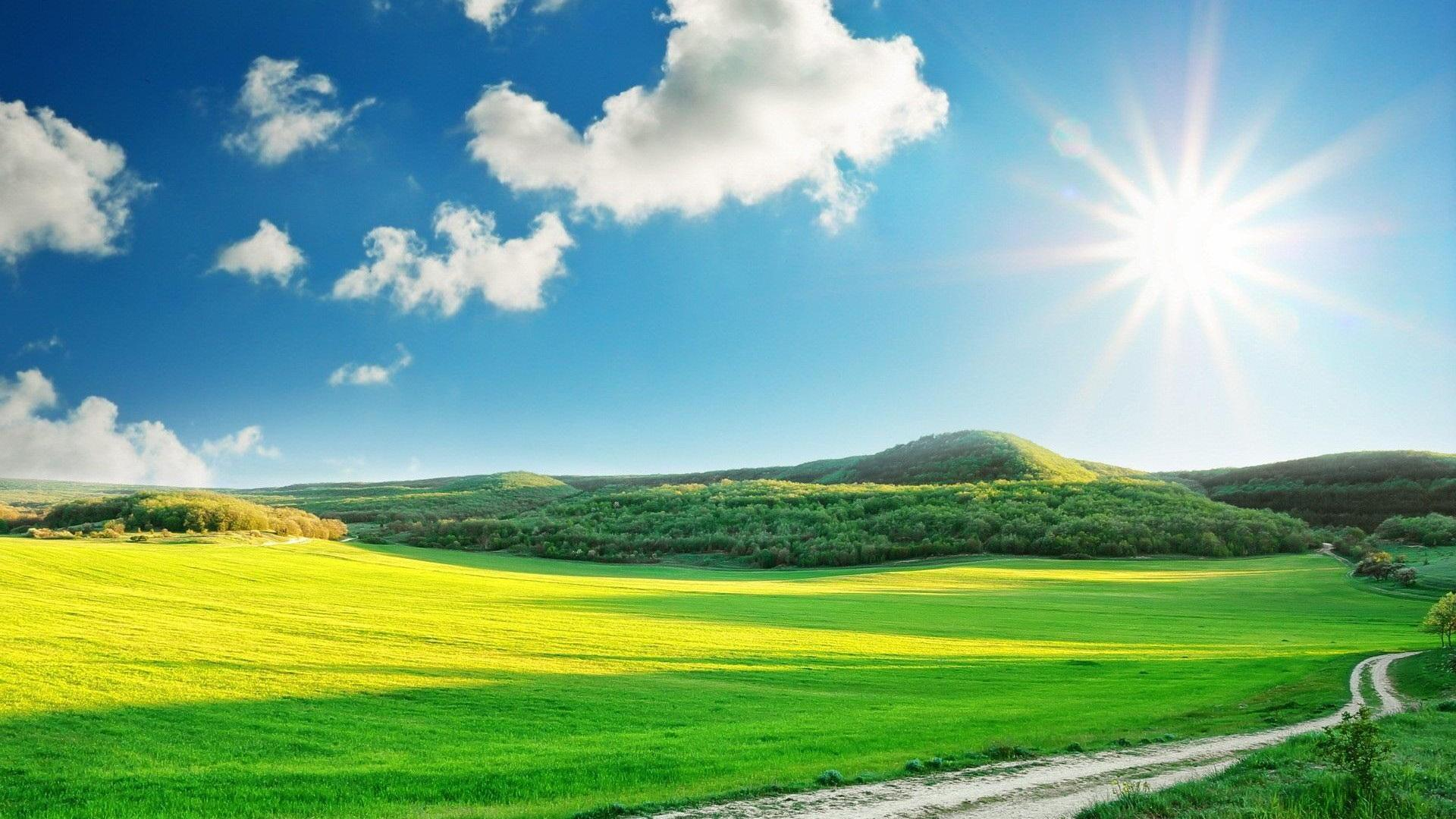Beautiful Sunny Day Wallpaper Hq Desktop Wallpapers 1920x1080px