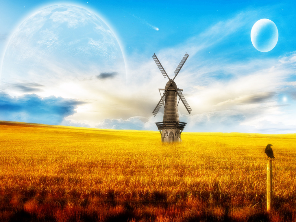 Amazing Windmill Wallpaper