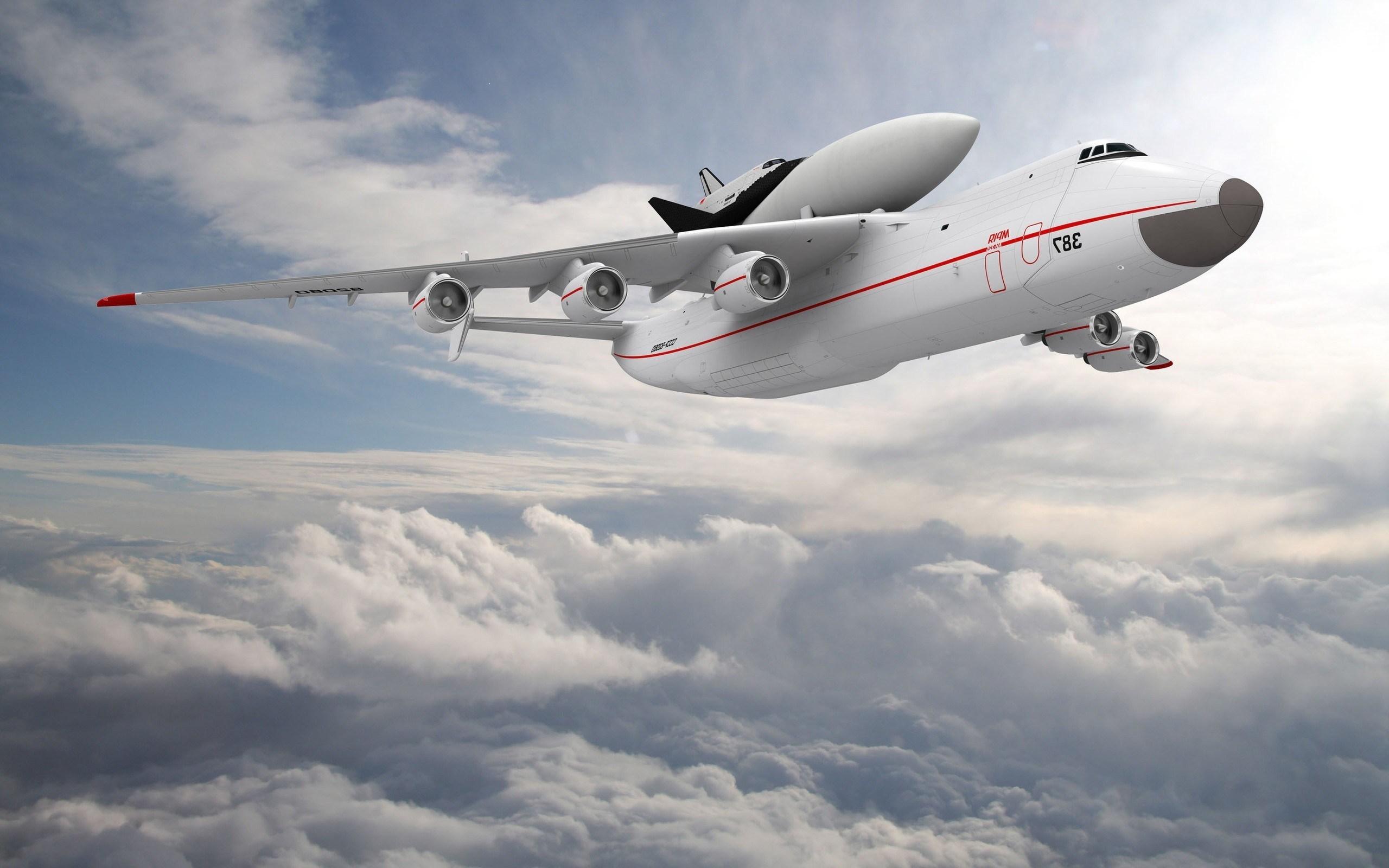 An-225 Mriya Aircraft Flight Sky Clouds