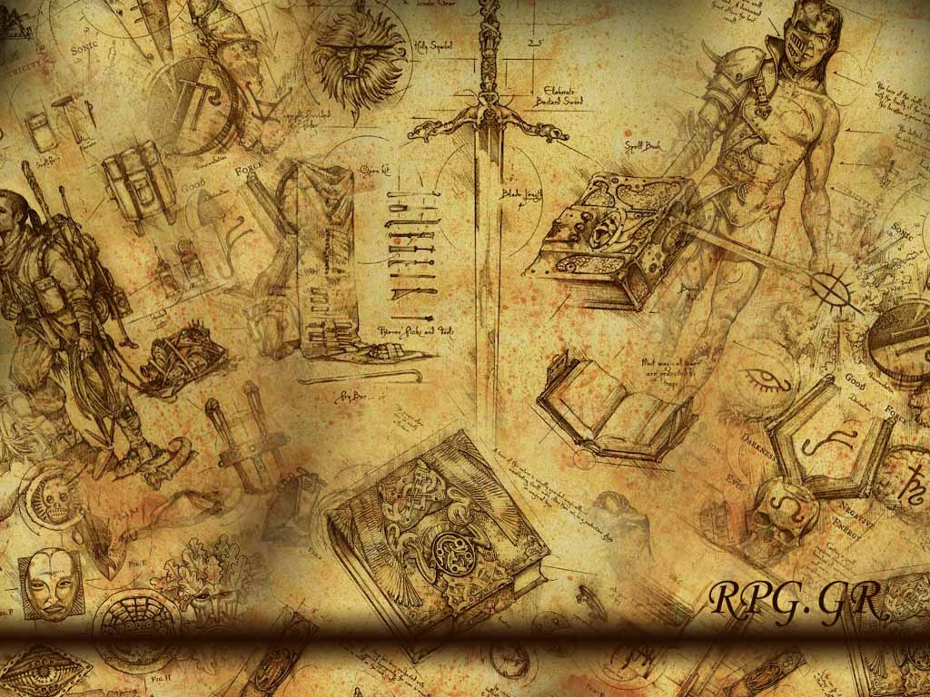 Fantasy Wallpaper: RPG - Ancient Paper