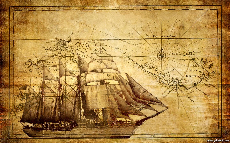 Ancient World Map Wallpaper >>