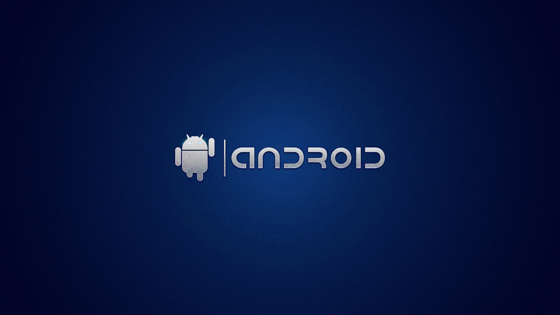 Blue android solid hd simple technology