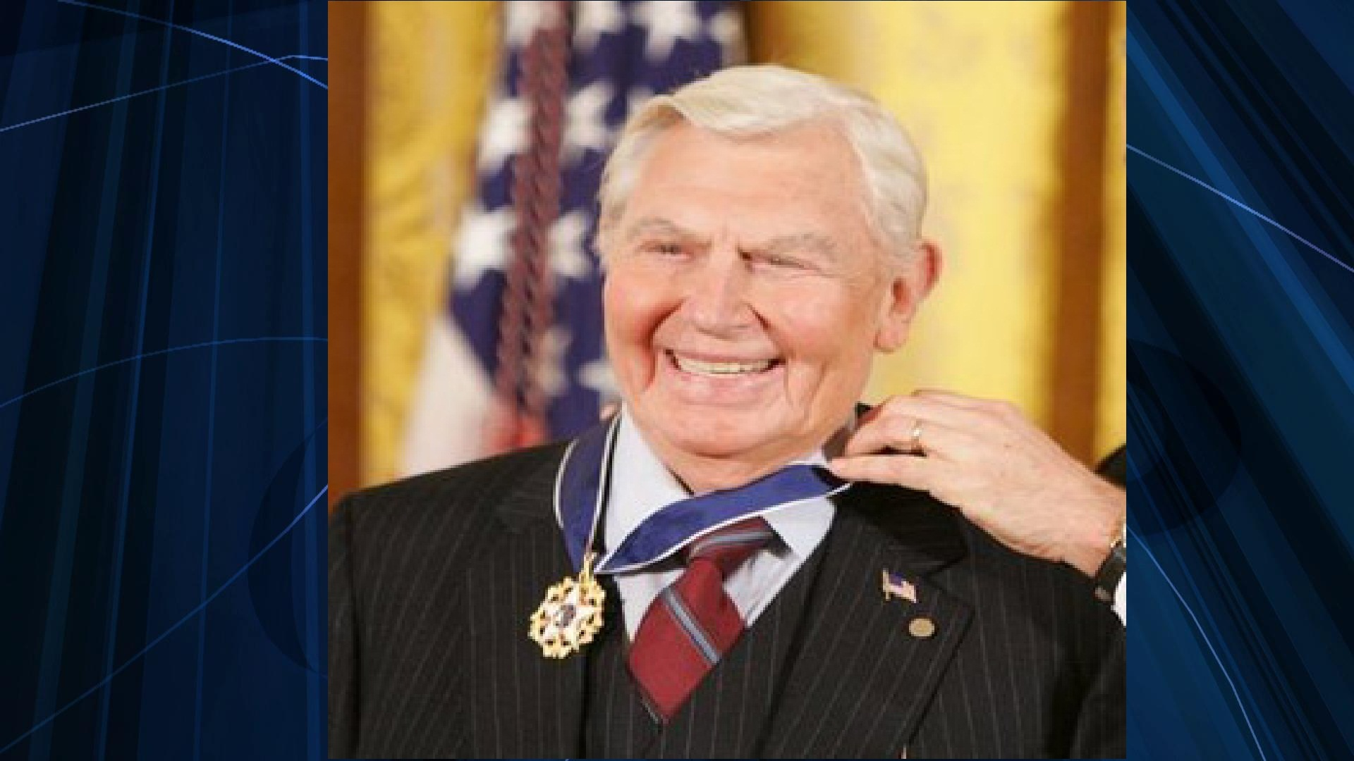 Andy Griffith was awarded the Presidential Medal of Freedom by George W. Bush in 2005