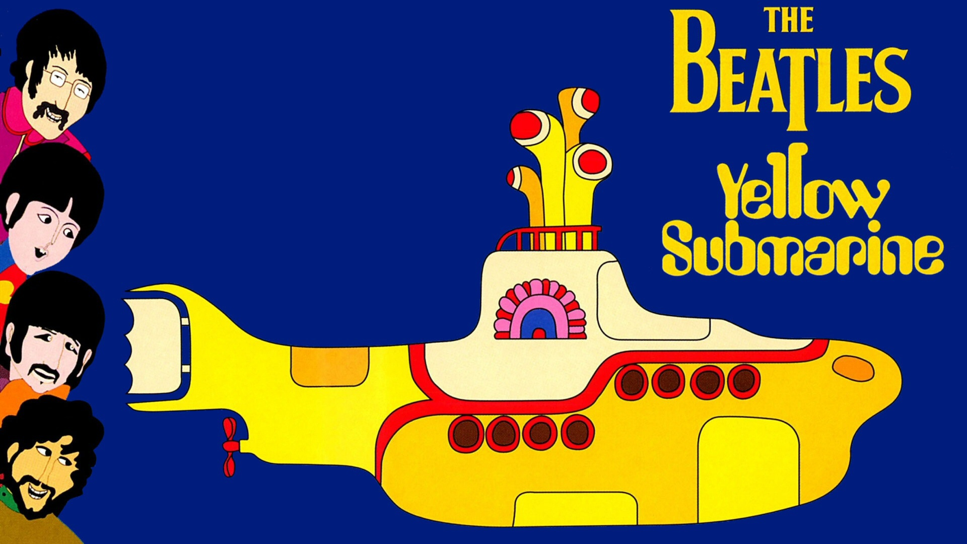 original wallpaper download: Painting Andy Warhol Yellow submarine - 1920x1080