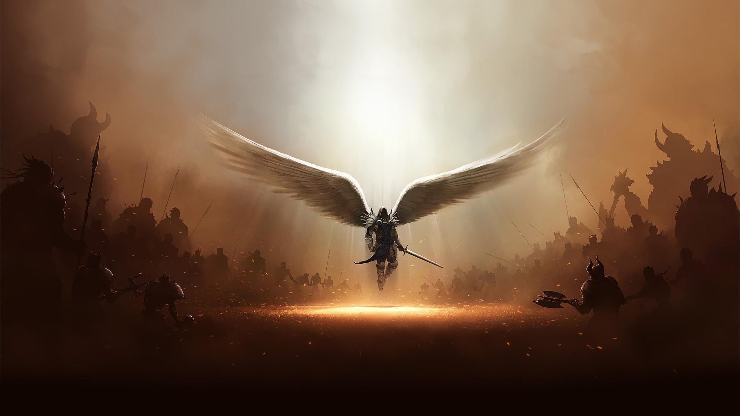 Fantasy Black Angel Wallpaper