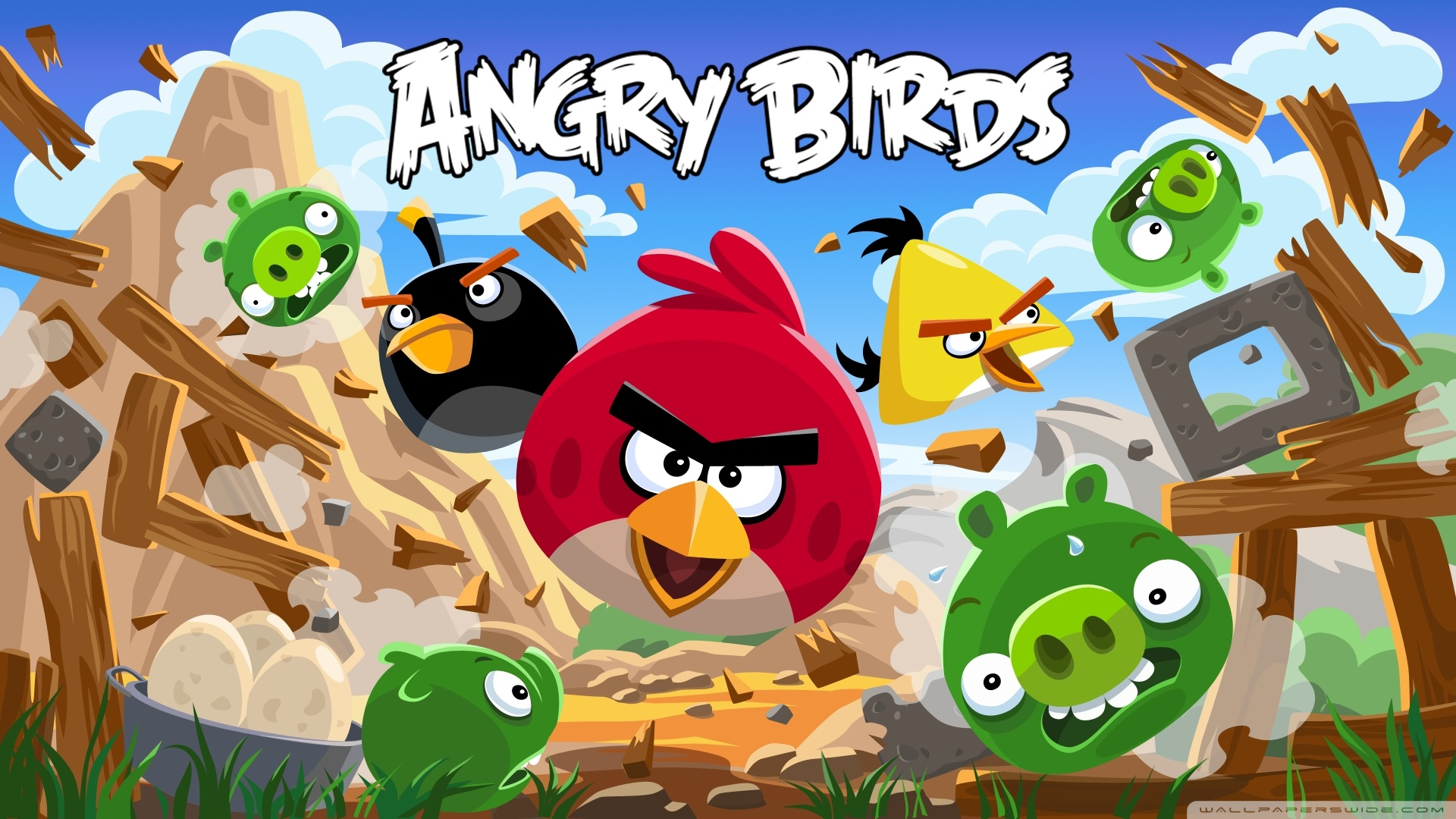 Angry Birds New Version HD Wide Wallpaper for Widescreen